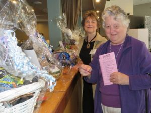 Choosing raffle baskets
