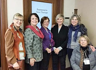 Lobby Day 2017: Debbi Steele, Susie Pool Moses, Jeanie Glaspell, Judy Sroufe, Cheryl Bentley, Anne Virtue