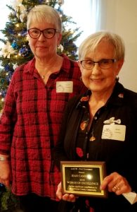 Carol Andreasen with Jean Camfield, 2017 Woman of Excellence
